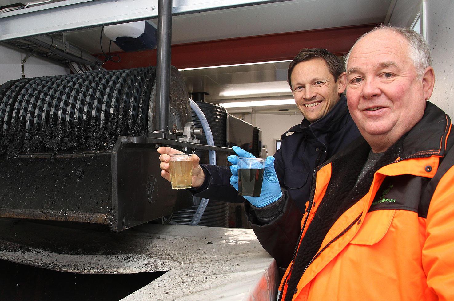 Rensing av sigevann hos Esval Miljøpark.