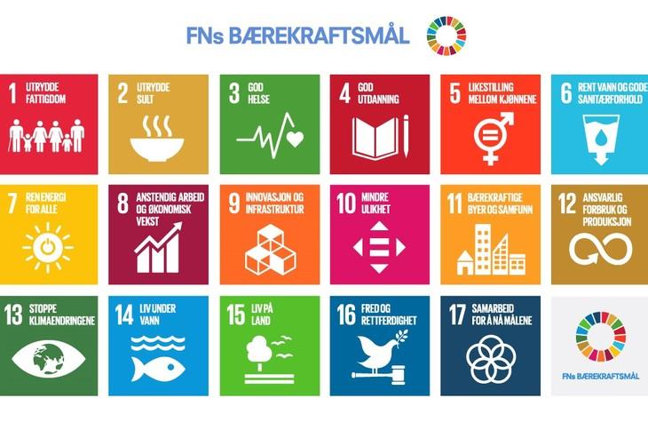 Illustrasjon av FN sine bærekraftsmål