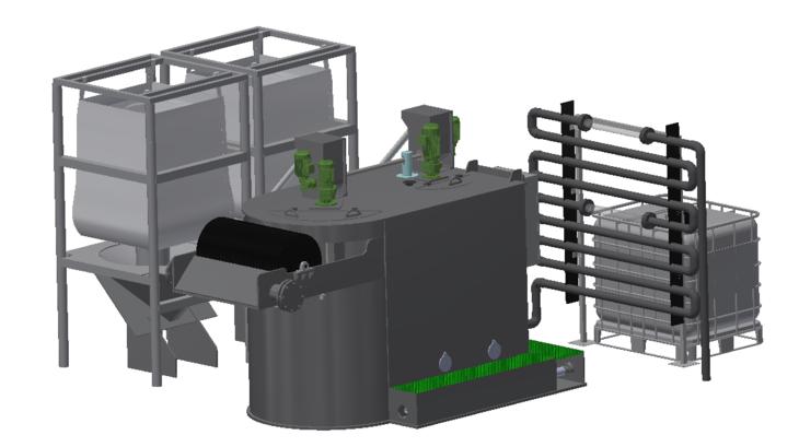 Illustration of the wastewater treatment plan MivaMag